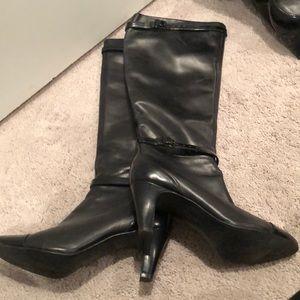 Clark's black boots, size 7